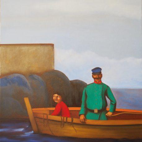 Les gens de mer - huile sur toile