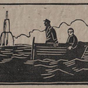 """Estampe """"Les petits marins"""""""